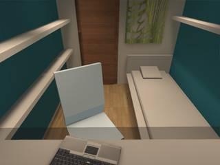 La identidad de tu Hogar Estudios y bibliotecas de estilo minimalista de ATELIER3 Minimalista