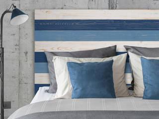 Cabecero Cama Estilo Vintage Decapé Azules :  de estilo  de Mueblesvintage