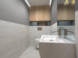 Projekt Domu - Gliwice: styl , w kategorii Łazienka zaprojektowany przez Novastrefa - Architektura Wnętrz