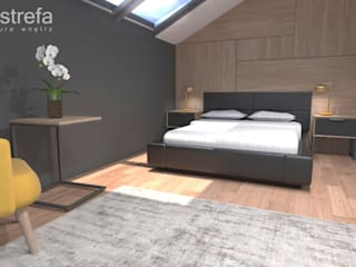 Projekt Domu - Gliwice: styl , w kategorii Sypialnia zaprojektowany przez Novastrefa - Architektura Wnętrz