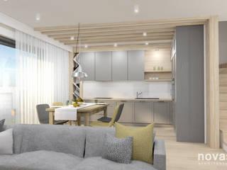 Projekt Domu - Tychy: styl , w kategorii Salon zaprojektowany przez Novastrefa - Architektura Wnętrz
