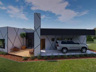 Casa Perbet: Cocheras abiertas de estilo  por Tila Design
