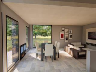 Living comedor luminoso minimalista:  de estilo  por Tila Design