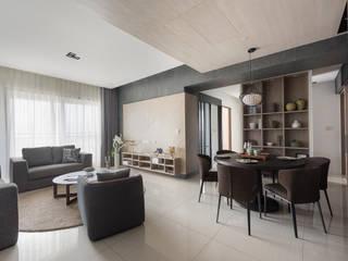 節理:  客廳 by 寬宸室內設計有限公司