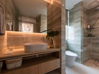 Design & Build: Melrose Condominium Modern bathroom by erstudio Pte Ltd Modern
