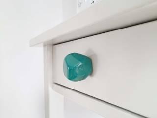 Ceramics handles – Polyhedron - colour marine glossy glaze Viola Ceramics Studio CasaAccessori & Decorazioni Ceramica Blu