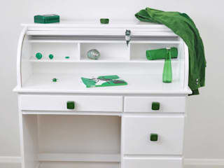 Ceramics handles - Cube - colour emerald green glossy glaze Viola Ceramics Studio 家庭用品Accessories & decoration セラミック 緑