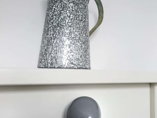 Ceramics handles – Little top – colour dark grey glossy glaze Viola Ceramics Studio HouseholdHomewares Ceramic Grey