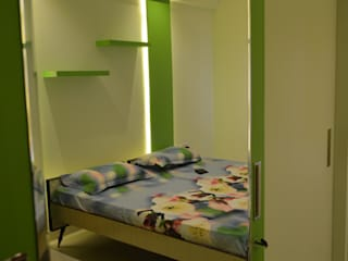 A SUMPTUOUS 3 BHK APARTMENT Modern style bedroom by Vdezin Interiors Modern