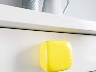 Ceramics handles - Cube - colour yellow glossy glaze Viola Ceramics Studio HouseholdAccessories & decoration Ceramic Yellow