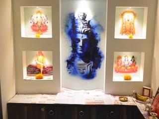 Pooja:  Living room by Vdezin Interiors