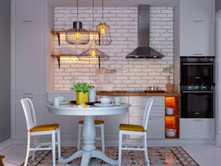 Небесная Кухня в скандинавском стиле от Design Service Скандинавский