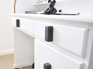 Ceramics handles – Rectangle – colour black matt glaze Viola Ceramics Studio CasaAccessori & Decorazioni Ceramica Nero