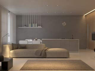 FI5: Гостиная в . Автор – KDVA Architects, Скандинавский