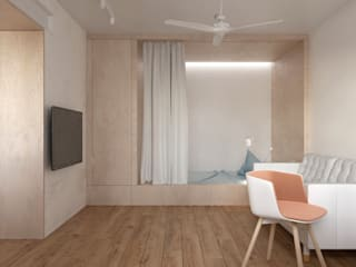 NP62: Гостиная в . Автор – KDVA Architects