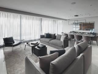 Departamento HL Salas de estar modernas por Concepto Taller de Arquitectura Moderno