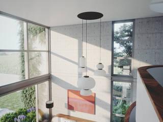 CASA MORENO: Salas multimedia de estilo  por ADRIAN CARDENAS BUILDING WORKSHOP