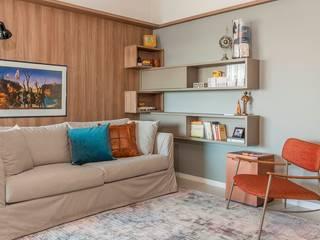 Sala de Estar e Jantar do APARTAMENTO Salas de estar modernas por Erlon Tessari Arquitetura e Design de Interiores Moderno