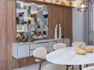 Sala de Estar e Jantar Salas de jantar modernas por Erlon Tessari Arquitetura e Design de Interiores Moderno