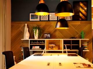 coworking Escritórios modernos por Erlon Tessari Arquitetura e Design de Interiores Moderno