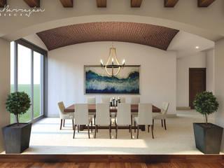 : Comedores de estilo  por Cynthia Barragán Arquitecta