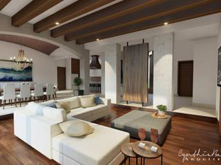 : Salas de estilo  por Cynthia Barragán Arquitecta