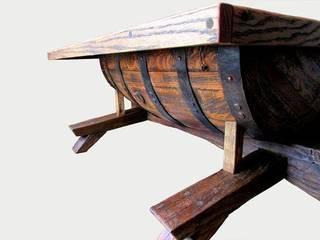 Barrel coffee table:   by Bezaleel workshop