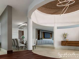 Vestibulo: Pasillos y recibidores de estilo  por Cynthia Barragán Arquitecta