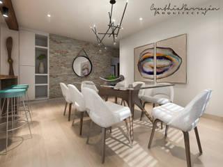 Comedor: Comedores de estilo  por Cynthia Barragán Arquitecta