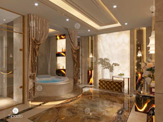Luxury Master Bathroom with Onix finishing من Spazio Interior Decoration LLC كلاسيكي