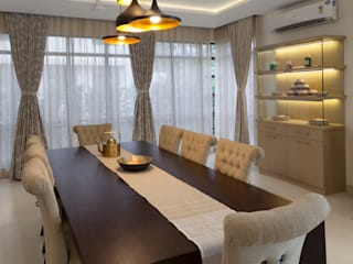 Residence No.1 at Panache, chennai Modern dining room by Synergy Architecture and Interiors Modern
