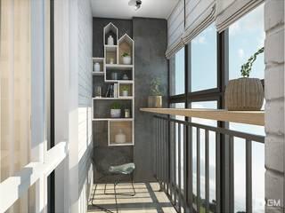 Балкон Балкон в скандинавском стиле от GM-interior Скандинавский