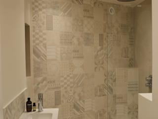 Maison de ville - Issy-les-Moulineaux / 100 m² Salle de bain moderne par A comme Archi Moderne