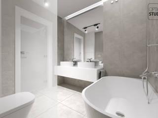 Nowoczesna łazienka: styl , w kategorii Łazienka zaprojektowany przez OptionSTUDIO Projektowanie wnętrz