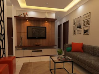 Compact Modern living room by Fuze Interiors Modern