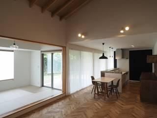 LDK: ai建築アトリエが手掛けたリビングです。