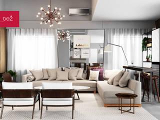 Residencia Jurerê Internacional Salas multimídia modernas por Fabiana Bez | Arquitetura Contemporânea Moderno