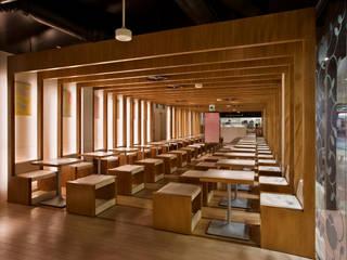 nana's green tea 志木店 モダンな商業空間 の 株式会社KAMITOPEN一級建築士事務所 モダン