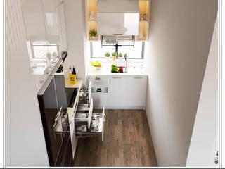 Tối ưu hóa không gian nhà bếp có diện tích hạn chế _GĐ chị Ngọc Anh.:   by Công ty TNHH Thương mại và Công nghệ Anh Tú