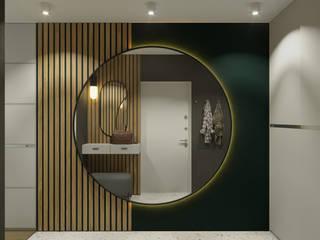 Квартира 79м2 в японо-скандинавском стиле : Коридор и прихожая в . Автор – Lines