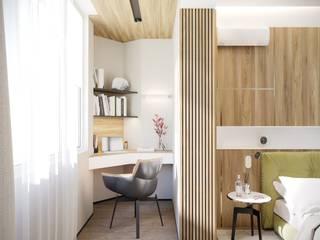 Квартира 143м2 в стиле лофт : Окна в . Автор – Lines