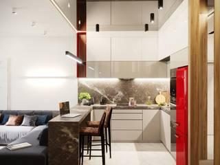 Квартира 143м2 в стиле лофт : Кухни в . Автор – Lines