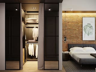 Industrial style dressing rooms by homify Industrial