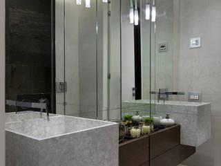 Дизайн-проект квартиры в современном скандинавском стиле , площадью 72 кв.м. Москва, ул. Лесная, д. 4: Ванные комнаты в . Автор – Владимир Чиченков
