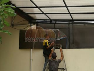 Canopy Polycarbonate Jakarta Putra Canopy Balconies, verandas & terraces Accessories & decoration Metal White
