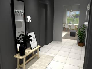Hall de entrada apartamento:   por Maria Eduarda Reis Interiores,Moderno