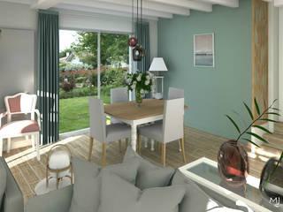 MJ Intérieurs Modern dining room Blue