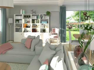 MJ Intérieurs Modern living room Grey