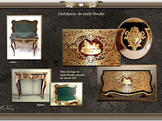 Mesa de jogo de estilo Boulle:   por Miguel Tomaz - Conservação e Restauro