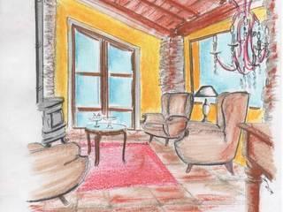 Soggiorno rustico: Soggiorno in stile  di Francesco Mainardi , Rustico